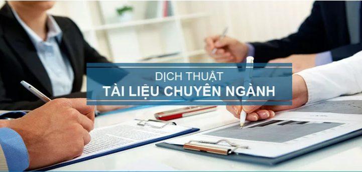Dịch thuật tài liệu chuyên ngành