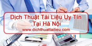 dịch thuật tài liệu tại Hà Nội