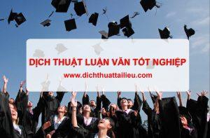 Dịch thuật luận văn tốt nghiệp