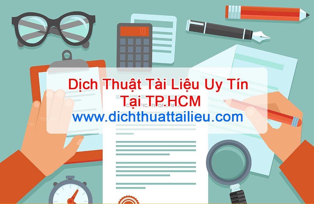 dịch thuật tài liệu tại Tp.HCM