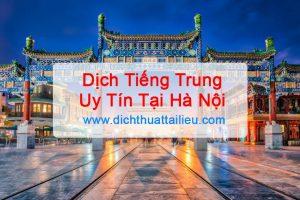 Dịch tiếng trung tại Hà Nội