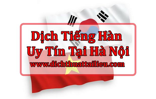 Dịch Tiếng Hàn Tại Hà Nội