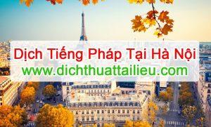 Dịch tiếng Pháp tại Hà Nội